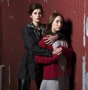 BOND GIRL GEMMA IS SEXY MOVIE VAMP Actress Gemma Arterton ( Quantum of Solace ) gets her teeth into her new horror movie Byzantium. The 27-year-old actress stars as Clara, a vampire who has to protect herself and her daughter (played by Saoirse Ronan) from those seeking to plunge a stake through their hearts. Picture Mother and daughter: Gemma Arterton with Saoirse Ronan 74018 EDITORIAL USE ONLY