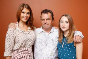 "TORONTO, ON - SEPTEMBER 09: Actress Gemma Arterton, director Neil Jordan and actress Saoirse Ronan of ""Byzantium"" pose at the Guess Portrait Studio during 2012 Toronto International Film Festival on September 9, 2012 in Toronto, Canada. (Photo by Matt Carr/Getty Images)"
